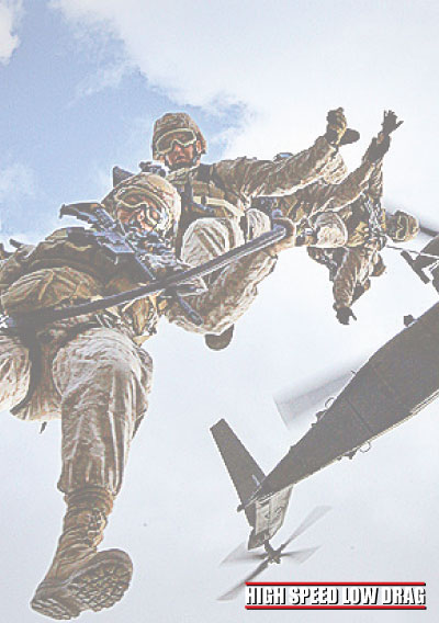 high speed low drag soldier jumps in the plane