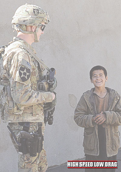 high speed low drag soldier with kids