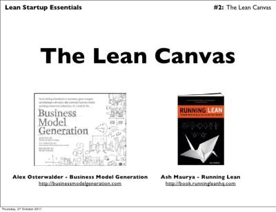 The Lean Canvas